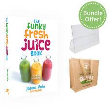 Funky Fresh Juice Book & Keeping it Simple Book. Jason Vale. Book & Hessian Bag.