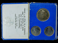 Thailand 1963 Commemorative Coin Set Kings 36th Birthday
