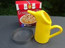 Funnel Cake Kit with Cake Pitcher and Frying Ring  Funnel Cake Recipe NO Mix