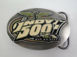 2001 Indianapolis 500 Event Belt Buckle Limited Edition 273 of 500 Pewter