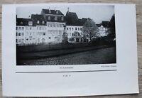 1 Blatt 1929 Bamberg Schillerplatz Häuser Werkstätten Geschäfte Str. Ofr 23x15cm