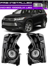 WICKED LED + 2017-2019 TOYOTA HIGHLANDER Fog Light Driving Lamp Complete Kit