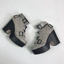 ASOS BLACK WHITE PRINT Plate-forme et talon bottier Pointure 5/38