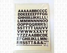 Virnex HO Decals Black 1/2 Inch Bold Gothic Letter Set 2087