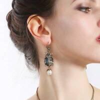 Boho New Fashion Jewelry Alloy Rhinestone Drop/Dangle star insect skull earrings