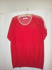 Elegant ladies knit tops X 2 Purple and red size M as new never worn
