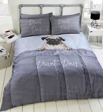 Pug Dog Duvet Cover 3D Reversible Boys Girls Kids Bedding ~ Single Double King ~