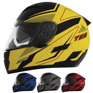 THH Helmets TS-80 FXX Mens Street Riding Cruising Motorcycle Helmet