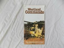 Westland Commando Helicopter Brochure RAF Military