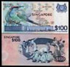SINGAPORE 100 DOLLARS P14 1977 BEE EATER UNC BIRD SERIES DANCER MONEY BANK NOTE