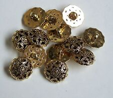Lot de 10 gold victorian style boucle/tige 17mm button 0038