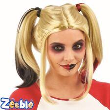 Da Donna Dip Dye a spirale Harley Quinn SQUADRA suicida Parrucca Costume Accessorio