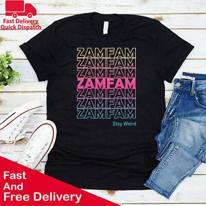 ZamFam Kids T Shirt Youtuber Merch Inspired Rabecca Zamolo Boys Girls Tee Top