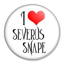 "HARRY POTTER - I Love Severus Snape 25mm 1"" Pin Badge Alan Rickman Rowling"