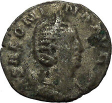 SALONINA daughter in law of Valerian I RARE Silver Roman Coin JUNO Cult   i34152