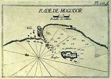Antique map, Rade de Mogodor