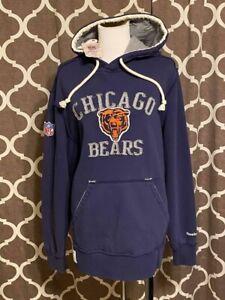 NFL Reebok Chicago Bears Football Hoodie Sweatshirt Adult Size Medium NEW!