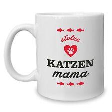Kaffeebecher - Tasse - Stolze Katzen Mama - Tierfreund Familie Kater Haustier