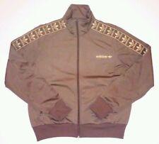 Adidas Brown Gold Track Jacket L Trefoil unisex bboy bgirl breakdance hiphop