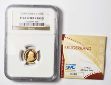 2009 South Africa 1/10th ozt. Gold Proof Krugerrand NGC PF69 UC w/ COA
