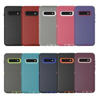 Samsung Galaxy S10+ Note 10 9 Hard Case Shockproof Hybrid Tough Armor Full Cover