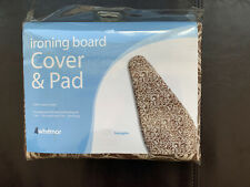 New Whitmor Ironing Board Cover & Pad Squiggles Design Brown & Whiye 100% Cotton