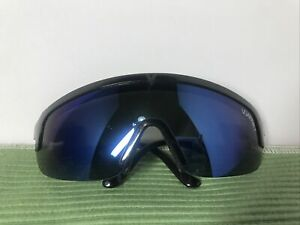 Vintage Vuarnet Sunglasses Z FRAME Wrap Alpine Shield SPORT Black France RARE