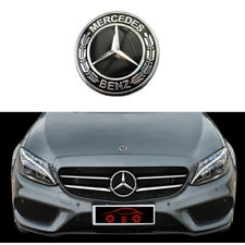 Black Front Hood Bonnet Emblem Logo Badges For Mercedes-Benz W204 W205