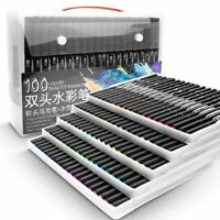Watercolor Markers For Drawing 48/60/72/100 Color Professional Painting Set New