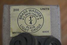 "Whitworth brass 1/4"" washers x 50"