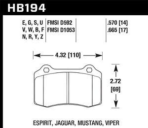 Disc Brake Pad Set-SRT8 Rear,Front Hawk Perf HB194B.570