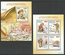 ST230 2015 GUINEA WORLD WAR II THE BATTLE OF THE ARDENNES 1KB+1BL MNH
