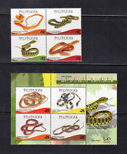 Philippine Stamps 2017 Endemic Philippine Snakes B/4 with Hologram S/S MNH
