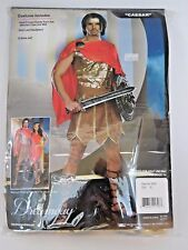 Size XL Men's Red Gold Caesar Costume Cosplay Halloween Sexy Dream Guy Costume