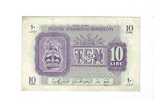 LIBYA - Tripolitania - British Military Authority - Ten (10) Lire  1943