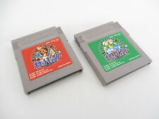 Game Boy Lot Of 2 POKEMON RED GREEN SET aka green Nintendo Video Game Cart gbc