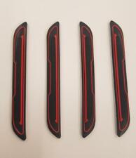 4 x Black Rubber Door Boot Guard Protectors RED Insert (DG5) fits INFINITI