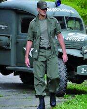 US Jungle Army Feldanzug Uniform USMC M64 NAM 1st Cavalry Hose Jacke OLIV SMALL