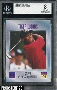 1996 Sports Illustrated SI For Kids Golf #536 Tiger Woods RC Rookie BGS 8 NM-MT