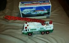 HESS EMERGENCY TRUCK ORIGINAL BOX AND ALL LIGHTS AND SIREN IN GOOD WORKING ORDER