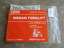 1994 Nissan Forklift Model KHO2 Series Parts Catalog Manual