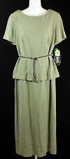 Sheri Martin New York Short Sleeve Dress Womens Size 10 Olive Green NEW