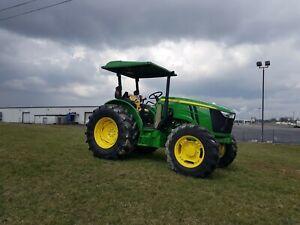 "John Deere Tractor Canopy GREEN 60"" W X 65"" LONG  Polyethylene fits 4"" X 2"" ROPS"
