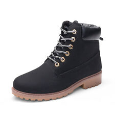 Women's Winter Martin Ankle Boots Outdoor Work Casual Waterproof Lace up Shoes