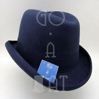 VINTAGE Wool Felt Men Homburg Top Hat Gentlemen Formal TopperBrownM L XL