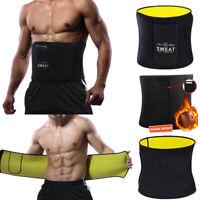 Men's Ultra Sweat Sauna Waist Trainer Slim Body Shaper Fat Burner Gym Sport Belt