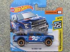 """Hot Wheels 2018 # 081/365 2015 Ford F-150 BLU HW velocità IMMAGINI """" K&N FILTRI"""