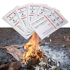 5 x CARTA DI CREDITO LENTE DI INGRANDIMENTO LENTE di Fresnel-Kit di sopravvivenza FIRE ACCENDINO campeggio preparazioni