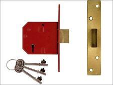 Box Union 2134E 5 Levier BS à Mortaise Deadlock Brass Finish 67 mm 2.5 in environ 6.35 cm