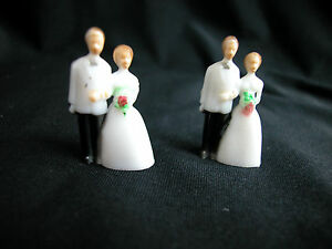 "Dollhouse Miniature 1/4""  Scale Bride & Groom  2 Set  #Z266"